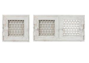 1-13 Решeтка для каминов декоративная Ретро-белая