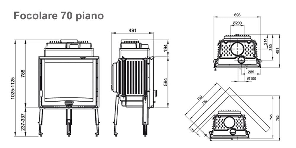 Focolare 70 piano cxema