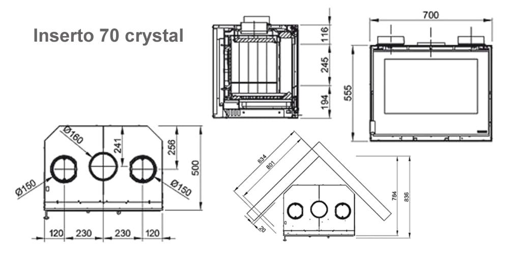 Inserto 70 crystal схема